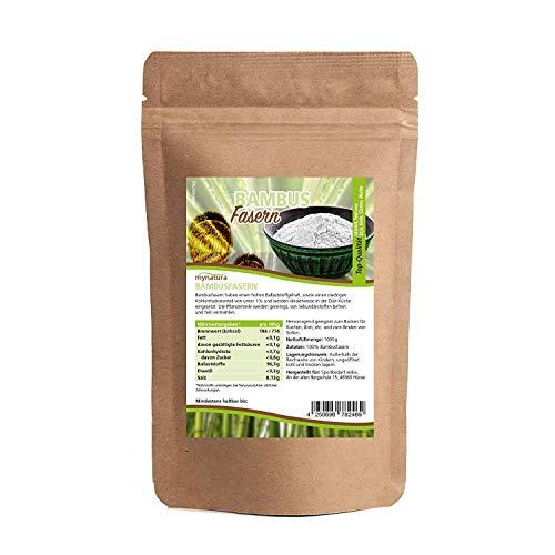 Mynatura Bambusfasern gemahlen 1000g - Bambus - Glutenfrei - Kohlehydratarm - Fitnessfood - Schonend Verarbeitet - Ballaststoffreich - Natur - Beutel (1 x 1kg)