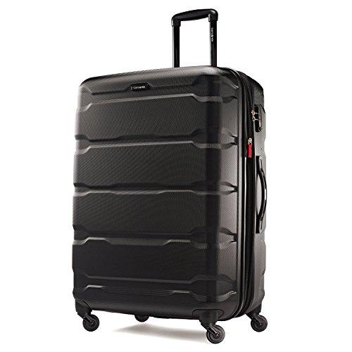 Samsonite Omni PC Hardside Luggage, Black, Checked-Large