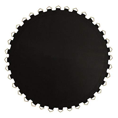 F Fityle Tela para Colchoneta de Salto Tela de Repuesto para Cama Elástica Redonda Negra - Cojín de Cama Resistente a Los Rayos UV - 8 pies-48 Hebilla