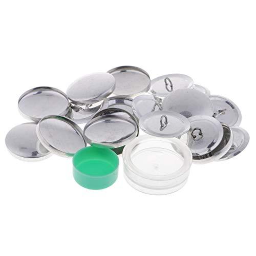 Milageto 10 Juegos de Espacios en Blanco de Botones para Botones de Cubierta, Respaldos de Metal con - 30mm