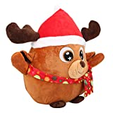 01 Caja de música incorporada de Ciervo Animal Peluche de Animal de Peluche, Material de Felpa Suave Peluche de Navidad, Seguro y(Ordinary 20cm, Christmas elk)