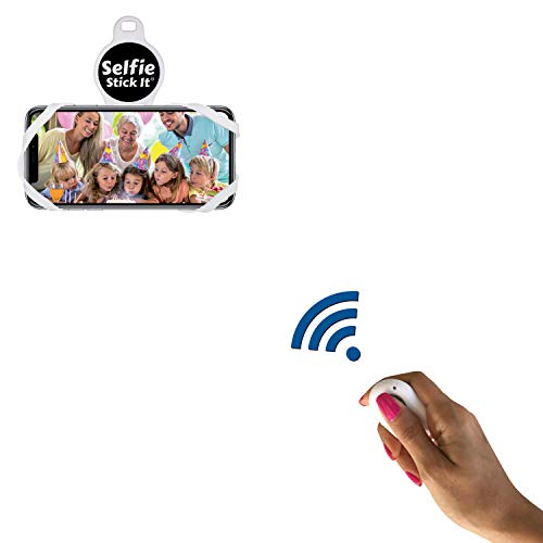 Hands Free Universal Phone Holder That Sticks to Anything, Take The Perfect Selfie, Mount on Any Surface and Video Conference, Zoom, Watch Videos or TikTok, Includes Bonus Bluetooth Remote (White)