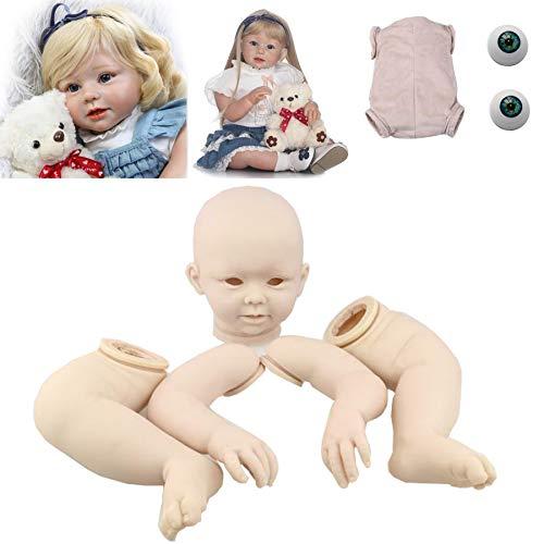 Zero Pam Unpainted 28 inch Reborn Baby Dolls Reborn Toddler Doll Kits (No Gender Characteristics) DIY Doll Include ( Limbs + Head + Body + Eyes) (1518)