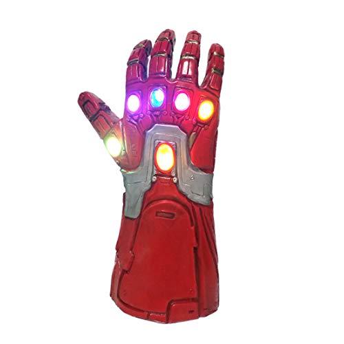 Kinder Iron Man Handschuhe Infinity Gauntlet mit LED-Licht Cosplay Kostüm Zubehör