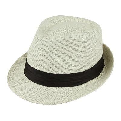 GPQHSM Gorra Playa Pata Sol Sombreros con Estilo Mujeres Hombres Panama Jazz Sombreros Vaquero gángster Gorra con Cinturones de Ventas de cinturón Negro Sombreros y Gorras (Color : 8, Size : 55-58cm)