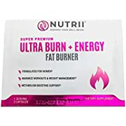Nutrii Thermogenic Fat Burner and Weight Loss Supplement, Keto Friendly CLA and Garcinia Fortified Appetite Suppressant and Energy Booster with Green Tea and Raspberry Ketones