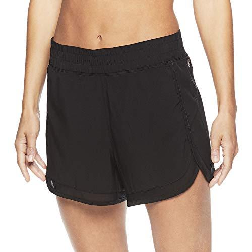 Gaiam Women's Warrior Yoga Short - Bike & Running Activewear Shorts - 3 Inch Inseam - Bright White White, Medium