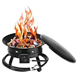 Safstar Gas Fire Pit, 58,000BTU Portable Propane Outdoor Fire Bowl with...
