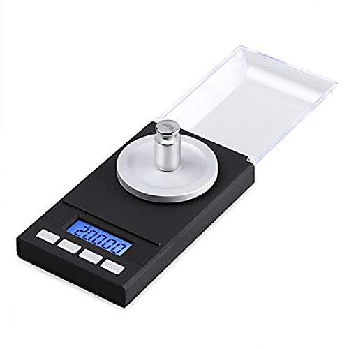 Báscula Digital De Bolsillo 0.005G 50G Balanza Electrónica De Precisión Digital Balanza Médica De Laboratorio Pantalla Lcd Balanzas Portátiles De Joyería Gramo Escala De Peso