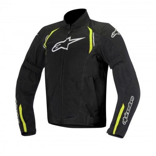 Alpinestars - Chaqueta moto Ast Air Textile, Negro/Amarillo, XL