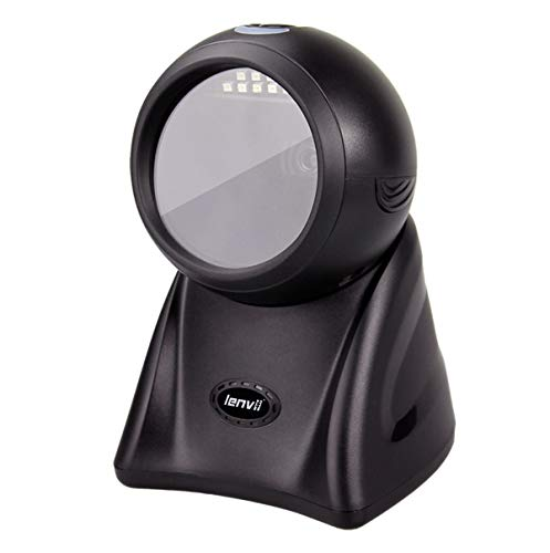 LENVII 1D & 2D Barcode-Scanner Million-Level Image Pixels Desktop Barcode Reader Ultra Efficient Scanner D3200 Scanner