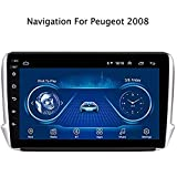 GLFDYC Android 8.1 GPS Navigation Car Stereo Radio, para Peugeot 208 2014-2018, 9' Pantalla Táctil Completa Reproductor Multimedia, Bluetooth Espejo Enlace Control USB FM Am AUX Dab MP5,WiFi:1+16G
