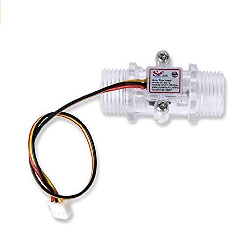 1–30L/min Sensor de flujo de agua transparente caudal Cuchillo Hall Agua Control