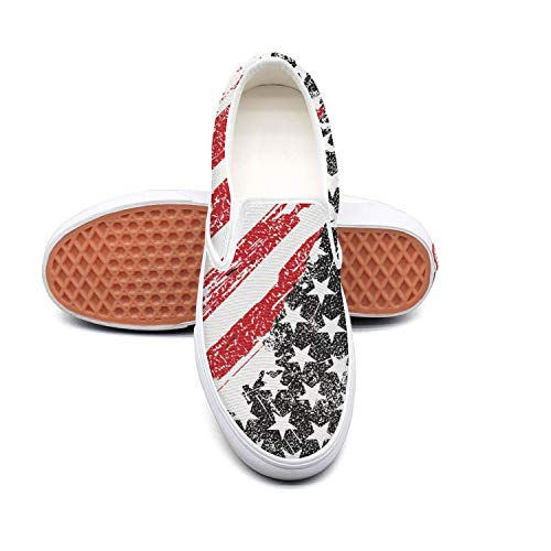 Black red art vintage american flag white Tennis Shoes for Women news Comfortable and Lightweight Best Running Shoes
