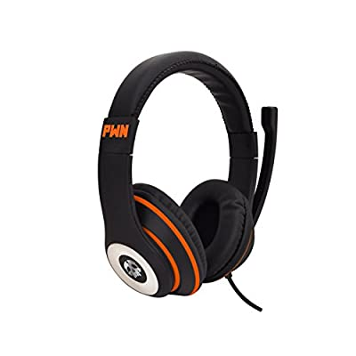 Audio Council PWN Gaming Headset with Stereo Over Ear Gamer Headphones, Adjustable Microphone, Inline Volume Control Mic PS4 PC WiiU Xbox Smartphones PC Tablet Laptop Computer Skype
