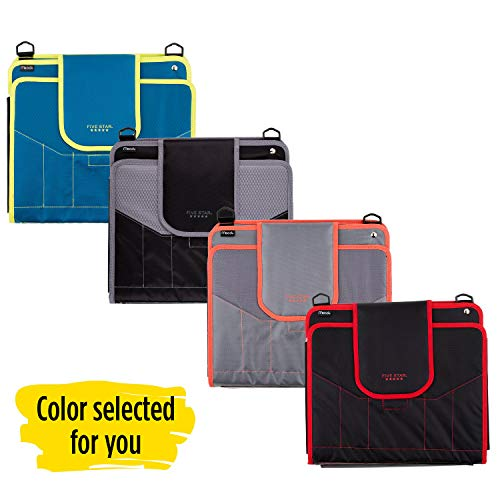 Five Star Sewn Zipper Binder, 2 Inch 3 Ring Binder With 4 Inch Capacity, Assorted Colors, Color Selected For You, 1 Count (28044) Photo #5