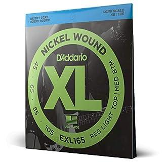 scheda d addario exl165 set corde basso exl