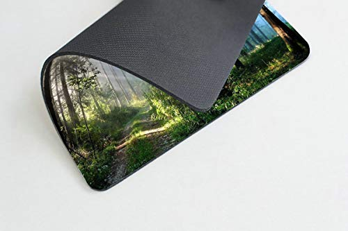 Smooffly Gaming Mouse Pad Custom,Nature Misty Forest Customized Rectangle Non-Slip Rubber Mousepad 9.5 X 7.9 Inch (240mmX200mmX3mm) Photo #3