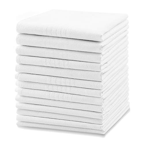 Men's Handkerchiefs, Ohuhu Cotton Handkerchiefs, 13 Pack 100% Pure Cotton White Pocket Square Hankies Great Father's Day Gifts