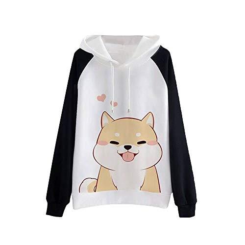 VJGOAL Moda para Mujer Casual Animal Print Sudadera con Capucha de Manga Larga Jersey con Capucha Blusa de...