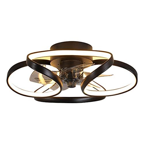 Hmvlw Ventilador de Techo con luz Ventilador de Techo de atenuación de la Escalera de Techo Dormitorio Luz Comedor Creativo Mute con Ventilador eléctrico Chandelier Sala de Estar Casa
