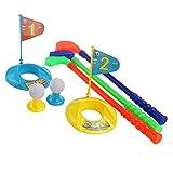 LEORX Golf-Set für Kinder 3 Arten von Golfschläger + 2 Golfloch + 1 Golf Fahne + 2 Golfbälle