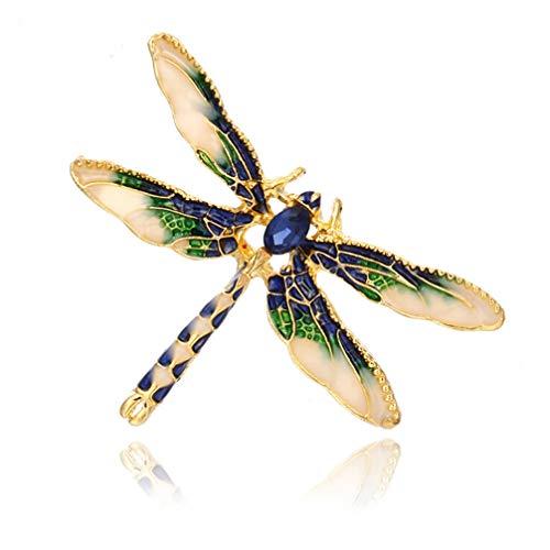 Toporchid Fashion Cute Punk Enamel Dragonfly Brooch Pin for Shirt Clothes...