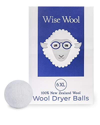 Wool Dryer Balls by Wise Wool - 6 XL - 100%...