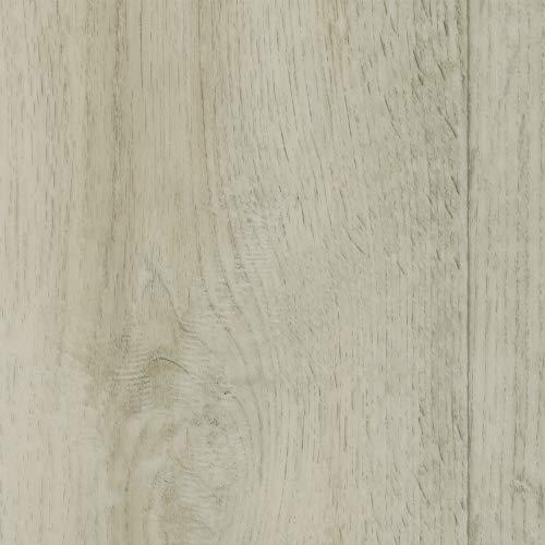 BODENMEISTER BM70517 Vinylboden PVC Bodenbelag Meterware 200, 300, 400 cm breit, Holzoptik Diele Eiche creme weiß grau
