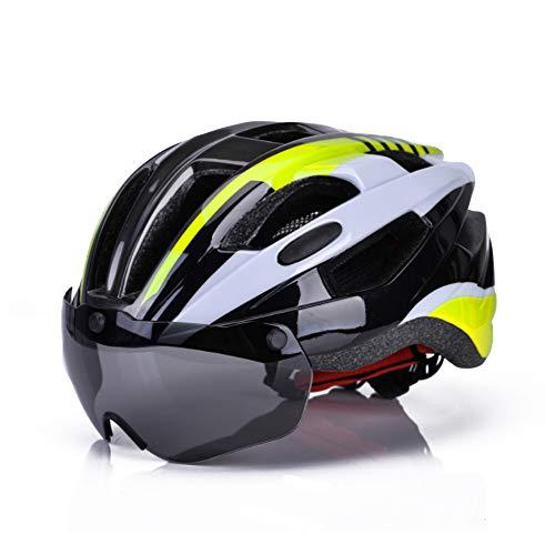 Lixada Casco de Bicicleta de Montaña Ultraligero Casco de Ciclismo con Gafas...