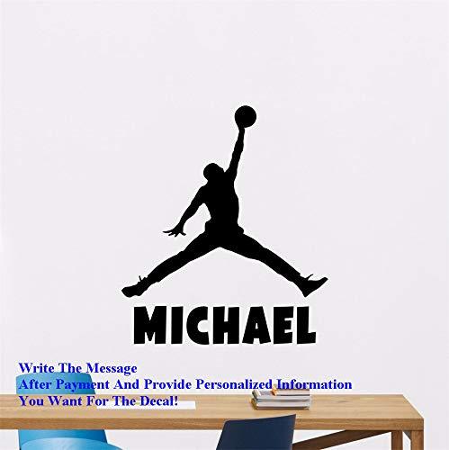 Adesivo personalizzato Adesivo da parete per cameretta per ragazzi Adesivo per pallacanestro Nome personalizzato per pallacanestro Adesivo per stelle