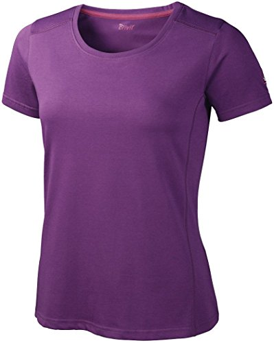 CRIVIT® Damen Trekking/Walking Funktions - T-Shirt (Gr. M 40/42, Violett)