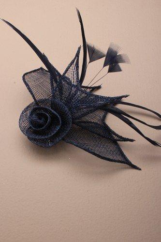 Différentes formes 3D ® Bleu marine foncé Pince bec Bibi mariage Mesdames Jour Race Royal Ascot