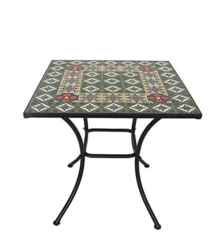 Tavolo giardino con mosaico tavolo da giardino quadrato con top in ceramica tavolo per esterni