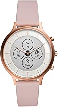 Fossil Women's 42MM Charter HR Heart Rate Stainless Steel and Silicone Hybrid HR Smart Watch, Color: Rose Gold, Pink (Model: FTW7013)