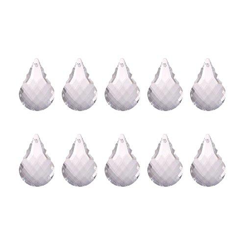 Inconnu H & D 10 pcs 38 mm Clair cristal à facettes prismes Chandelier lampe Pendentifs pièces d'bougeoirs, Cristal, water drop 3, Lot de 10