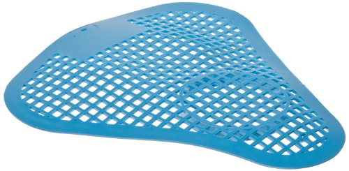 """Impact 501 Urinal Screen with Block Holder, 8"""" Length x 8"""" Width, Blue (Case of 50)"""