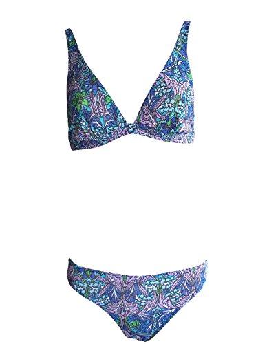 Solar Tan Thru Triangel-Bikini blau/lila/grün, Gr. 38 B-Cup
