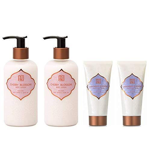 AKALIKO Cherry Blossom Body Lotion and Lavender Cherish Hand Cream - Set B.