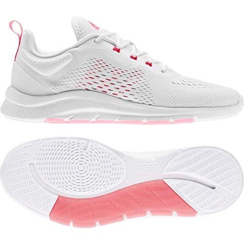 adidas Women's X Cross Trainer, White/Signal Pink/Grey, 9