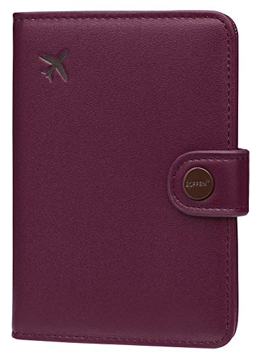 Zoppen Passport Cover for Women Travel Wallet Passport Holder Cover Slim Id Card Case(#21 Grape Purple)