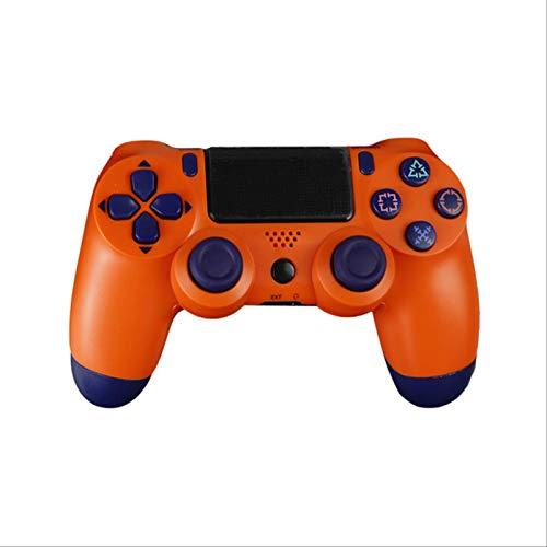 Leisont - Para Sony PS4 Controlador Bluetooth vibración Gamepad Consola de Juegos 4 Joystick inalámbrico Detroit para Consola de Juegos PS4 China. Naranja.