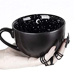 Coffee Large Mug in Gift Box By Rogue + Wolf Cute Mugs For Women Unique Summer Green Witch Gifts Novelty Tea Cup Goth Decor - 17.6oz 500ml Porcelain
