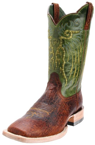 Ariat Men's Mesteno Western Cowboy Boot, Adobe Clay/Neon Lime, 12 M US