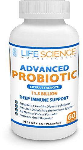 11.5 Billion CFU Probiotics Deep Immune Support 7 Strains Time Release All Natural Probiotic Supplement *
