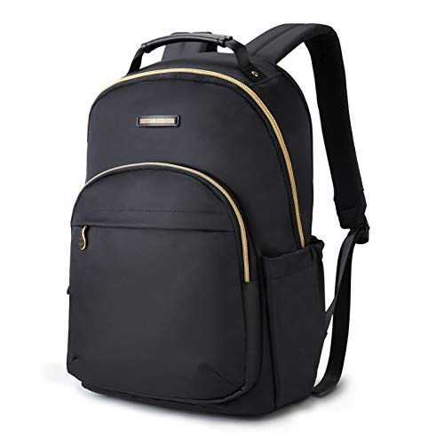 "Laptop Backpack LIGHT FLIGHT Women Laptop Bag for 15.6"" Laptop Casual Daypack Large Laptop Backpack for Work Travel Business College Black"