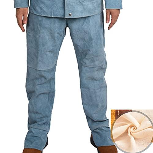 TXYJ Traje de soldadura, pantalones de cuero, traje eléctrico de cuero vacuno,...