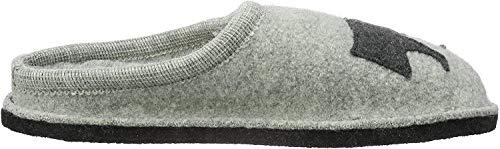 Haflinger Flair Dackel, Unisex-Erwachsene Pantoffeln, Grau (Steingraumeliert 84), 40 EU