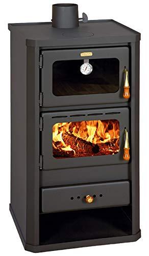 Holz- und Kohleofen mit Ofen aus Stahl 12-16 kW Venedig mit Thermometer