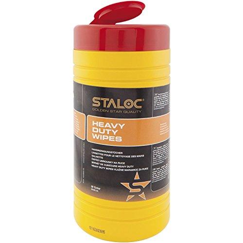 STALOC 104409055.HD Heavy Duty Wipes Reinigungstücher, Putztücher im Spendereimer für Anwendungen im Bereich Auto, Haus, Werkstatt-ideal für Heimwerker 80 Stück